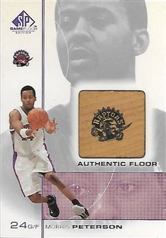 2000-01 SP Game Floor Authentic Floor #MP Morris Peterson