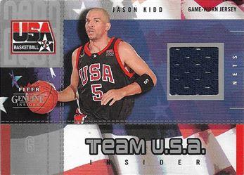 2003-04 Fleer Genuine Insider Team USA Insider #5 Jason Kidd