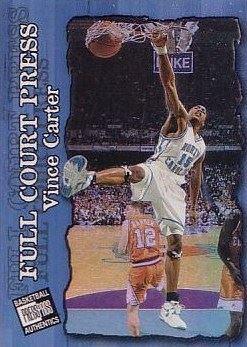 1998 Press Pass Authentics Full Court Press #FP4 Vince Carter