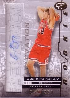 Aaron Gray 07/08 Bowman Elevation Rookie Writings RWAG (251/299)