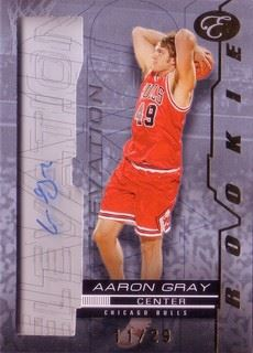 Aaron Gray 07/08 Bowman Elevation Rookie Writings Blue RWAG (11/29)