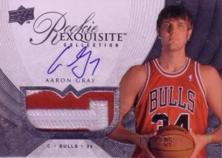 Aaron Gray 07/08 Exquisite Collection RC 73 (134/225)