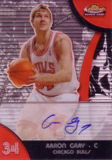 Aaron Gray 07/08 Finest Rookie Autograph Refractor 83