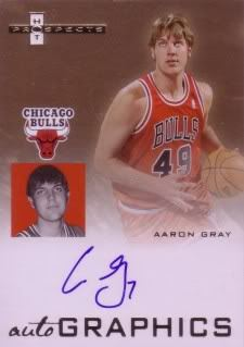 Aaron Gray 07/08 Fleer Hot Prospects Autographics AU-AG