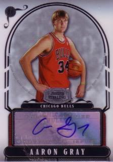 Aaron Gray 07/08 Bowman Sterling Auto RC AG /412