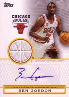 Ben Gordon 2009-10 Topps Autograph Relics TAR-BG (95/299)