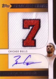 Ben Gordon 09/10 Toops Franchise Fabrics Autograph Patch FF-BG (50/149)