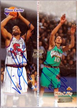Vince Carter/Mike Bibby 1998-99 Stadium club Co-Signers CO20