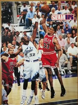 Slam Magazine Poster Scottie Pippen Dunking on Malone