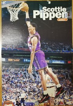 Mondial Basket Poster Scottie Pippen Dunking 1995 All Star Game