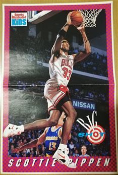 Sports Illustrated for Kids Poster SCottie Pippen Dunking /Warriors