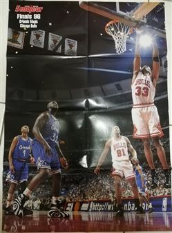 5 Majeur Poster Scottie Pippen Rebounding /Magic