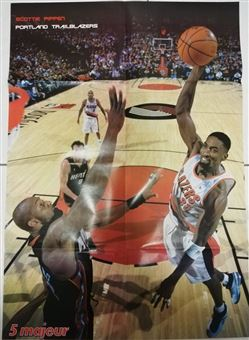 Mondial Basket Poster Scottie Pippen Dunking on Mourning