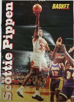 Basket in Action Poster Scottie Pippen Lay-up /Lakers