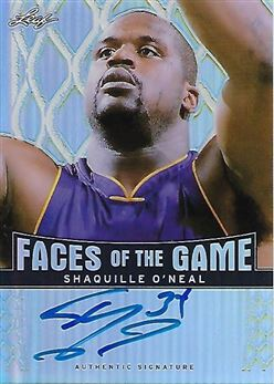 2012-13 Leaf Metal Faces Of The Game Holo #FG-SO1