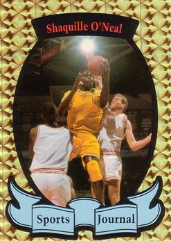 1992 Sports Journal Gold Prism Basketball