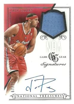 13-14 National Treasures NBA Gear Jersey AUTO /75 Jared Dudley LA Clippers