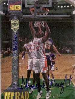 1994 Signature Rookies Tetrad Signatures #83 Sharone Wright