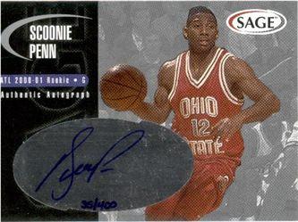 2000 SAGE Autographs Silver #A40 Scoonie Penn