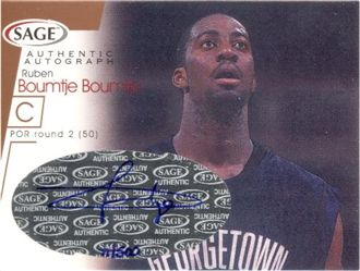 2001 SAGE Autographs Bronze #A3 Ruben Boumtje-Boumtje