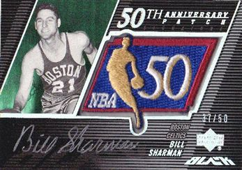 2007-08 UD Black 50th Anniversary Autographs #BS Bill Sharman