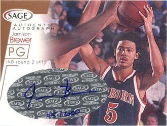2001 SAGE Autographs Bronze #A6 Jamison Brewer