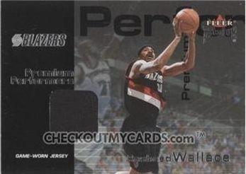2001-02 Fleer Premium Solid Performers Premium Jerseys #RW Rasheed Wallace