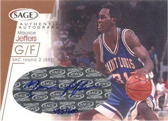 2001 SAGE Autographs Bronze #A21 Maurice Jeffers