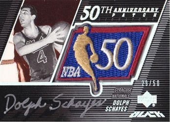 2007-08 UD Black 50th Anniversary Autographs #DS Dolph Schayes