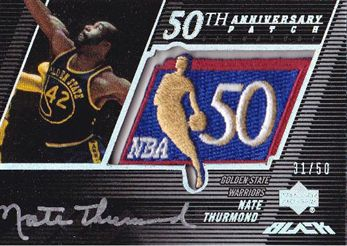 2007-08 UD Black 50th Anniversary Autographs #NT Nate Thurmond