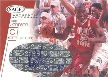 2001 SAGE Autographs Red #A23 Ken Johnson