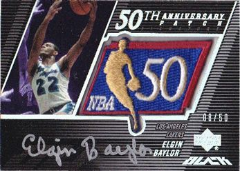 2007-08 UD Black 50th Anniversary Autographs #EB Elgin Baylor