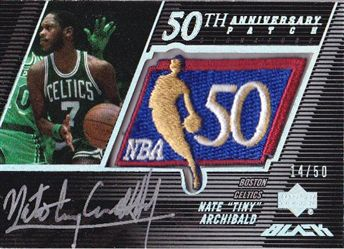 2007-08 UD Black 50th Anniversary Autographs #NA Nate Tiny Archibald
