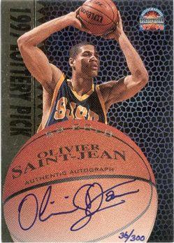 1997 Score Board Autographed BK Gold Autographs #47 Olivier Saint Jean