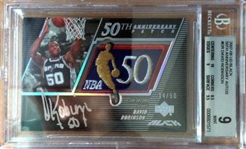 2007-08 UD Black 50th Anniversary Autographs #DR David Robinson