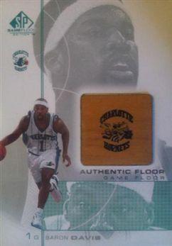 2000-01 SP Game Floor Authentic Floor #BD Baron Davis