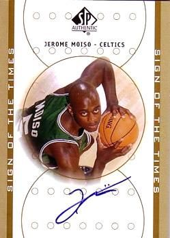 2000-01 SP Authentic Sign of the Times #JM Jerome Moiso