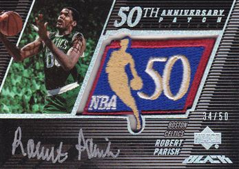 2007-08 UD Black 50th Anniversary Autographs #RP Robert Parish
