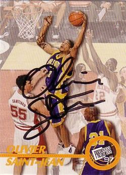 1997 Press Pass Autographs #20 Olivier Saint-Jean