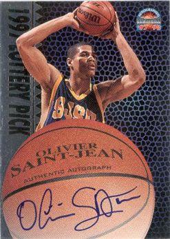 1997 Score Board Autographed BK Silver Autographs #LP11 Olivier Saint-Jean