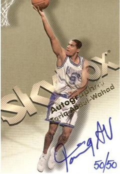 1998-99 SkyBox Premium Autographics Blue #1 Tariq Abdul-Wahad