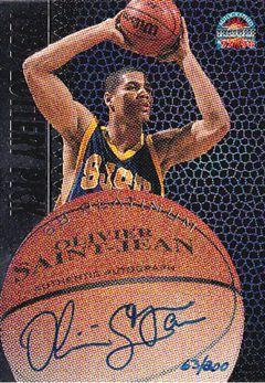 1997 Score Board Autographed BK Platinum Autographs #37 Olivier Saint Jean