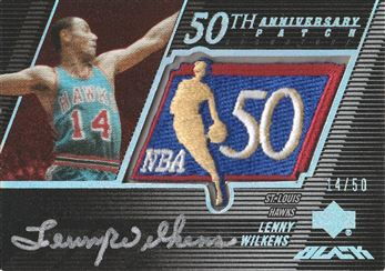 2007-08 UD Black 50th Anniversary Autographs #LW Lenny Wilkens