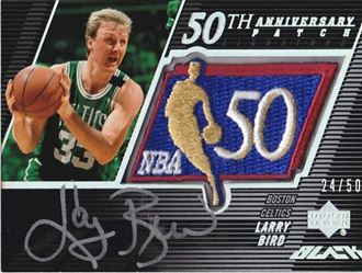 2007-08 UD Black 50th Anniversary Autographs #LB Larry Bird