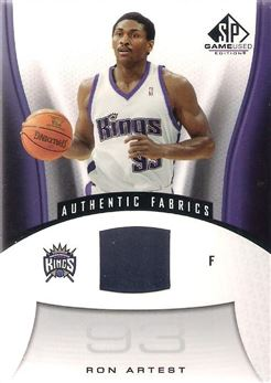 bfeaddda7 2006-07 SP Game Used  182 Ron Artest JSY