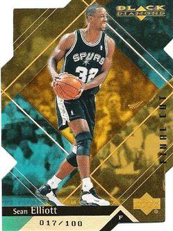 1999-00 Black Diamond Final Cut #75 Sean Elliott