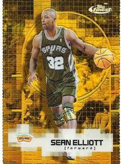 2000-01 Finest Gold Refractors #81 Sean Elliott