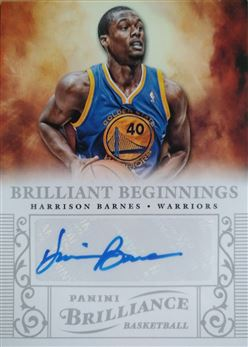 BARNES Harrison 2012-13 Panini Brilliance Brilliant Beginnings Autographs # 24 (warriors)