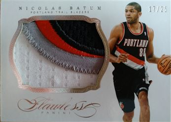 BATUM Nicolas 2013-14 Panini Flawless Patches # 32 (blazers)
