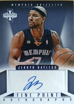 BAYLESS Jerryd 2012-13 Innovation Fine Print Autographs # 44 (grizzlies)